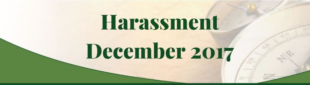Harassment – This Month In HR News